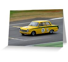 Ford Lotus Cortina No 5 Greeting Card