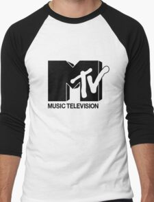Black MTV Men's Baseball ¾ T-Shirt
