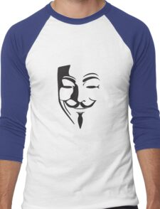 V For Vendetta Silhouette Men's Baseball ¾ T-Shirt