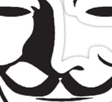V For Vendetta Silhouette Sticker