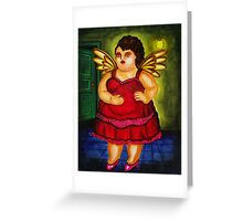 BOTERO ANGEL BY AUGUSTO SANCHEZ Greeting Card