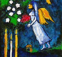 Marc Chagall Angel by Augusto Sanchez by angelsinmyheart