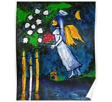 Marc Chagall Angel by Augusto Sanchez Poster