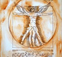 Leonardo Da Vinci Angel by Augusto Sanchez by angelsinmyheart