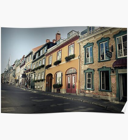 Streets of Quebec Poster