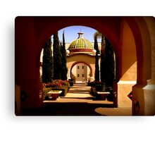Through Arches Does Sunlight Play Canvas Print