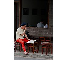 Red Pants Photographic Print