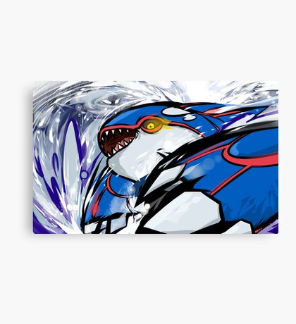 Kyogre | Water Spout Canvas Print