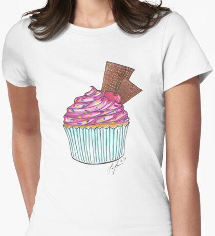 Cupcake Sundae Womens Fitted T-Shirt