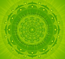 Anahata Chakra Green Colour Ray by Sarah Niebank
