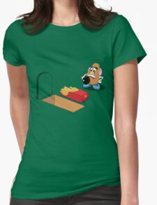 Toy Story Mr Potato Head Burying his dead Womens Fitted T-Shirt