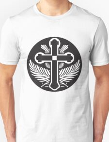 Black and white cross religious symbol T-Shirt