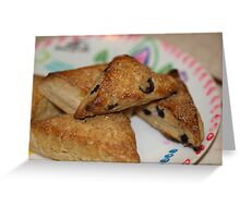 Blueberry Scones by Chef Jami Cakes Greeting Card