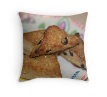 Blueberry Scones by Chef Jami Cakes Throw Pillow