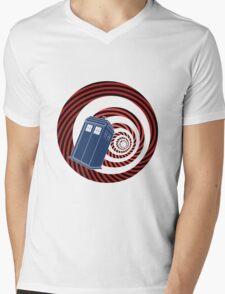 TARDIS Mod Vortex Mens V-Neck T-Shirt