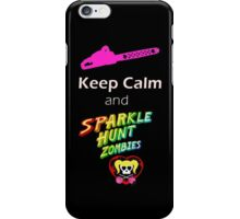 Lollipop Chainsaw Keep Calm and Sparkle Hunt Zombies iPhone Case/Skin