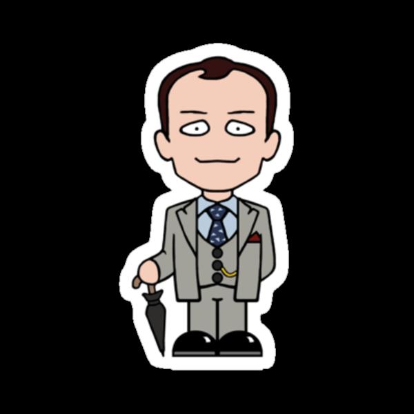 Mycroft Holmes sticker by redscharlach
