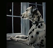 Silent Night - Dalmatian wishes by Anne Zoutsos