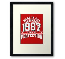 1987 aged to perfection Framed Print