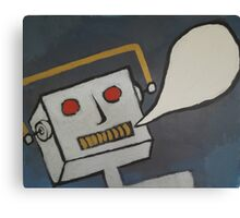 Speechless Robot Canvas Print