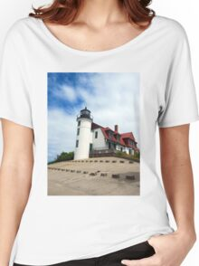 Lake Michigan Light House  Women's Relaxed Fit T-Shirt