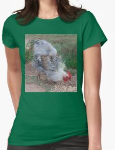 Farm talk - Mr. Brown, Solly's dustbin chook Womens Fitted T-Shirt