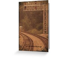 Railroad Tracks Sepia 3 Greeting Card