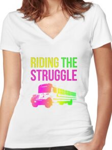 Struggle Bus Women's Fitted V-Neck T-Shirt