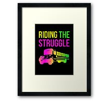 Struggle Bus Framed Print