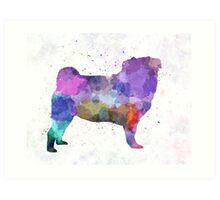 Pug 02 in watercolor Art Print