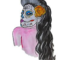 Vintage day of dead girl Photographic Print