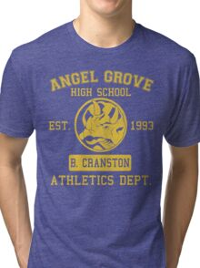 Angel Grove H.S. (Blue Ranger Edition) Tri-blend T-Shirt