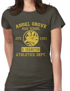 Angel Grove H.S. (Blue Ranger Edition) Womens Fitted T-Shirt
