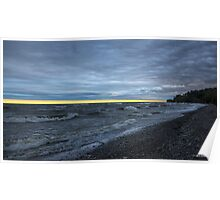A Yellow Line of Sunrise Poster