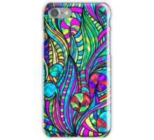 Colorful Vintage Abstract Floral Swirls Collage 3 iPhone Case/Skin