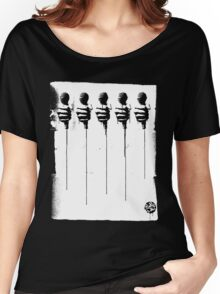 Five Mics - Black/White Women's Relaxed Fit T-Shirt