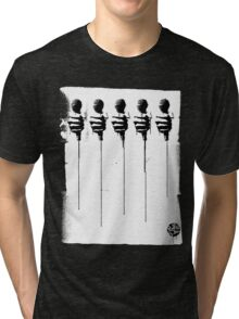 Five Mics - Black/White Tri-blend T-Shirt