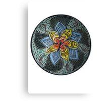 Zen Doodle #3 floral design Canvas Print