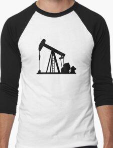 Oil Crane Pump Jack Men's Baseball ¾ T-Shirt