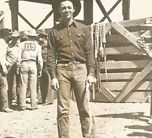 Doff Aber At The 1943 Phoenix Rodeo by Robert Stanford