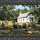 Cades Cove Missionary Baptist Church ... with a canvas and framed look by © Bob Hall