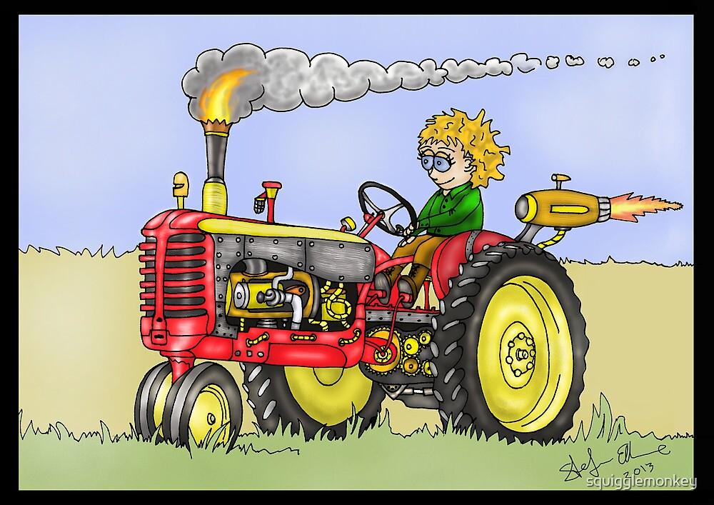 STEAMPUNK MASSEY HARRIS STYLE FARM TRACTOR by squigglemonkey