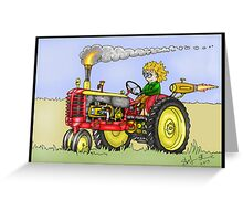 STEAMPUNK MASSEY HARRIS STYLE FARM TRACTOR Greeting Card