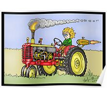 STEAMPUNK MASSEY HARRIS STYLE FARM TRACTOR Poster