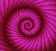 Hot Pink Spiral, Fractal artwork by walstraasart