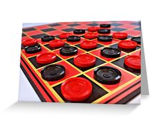 Checkers Greeting Card