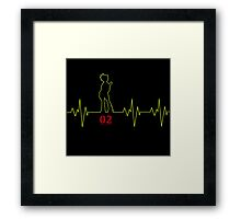Heartbeat Len Framed Print