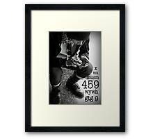 459 means I Love You Framed Print