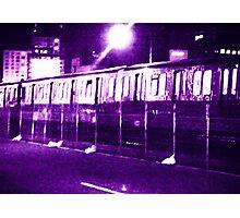 Boston Subway T at Night Photographic Print