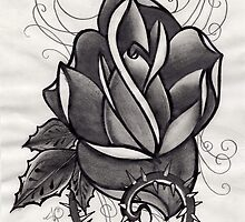 grey rose. by resonanteye